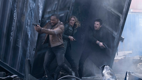 Anthony Mackie, Emily VanCamp and Sebastian Stan, The Falcon and The Winter Soldier