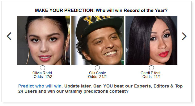 grammys record of the year predictions widget