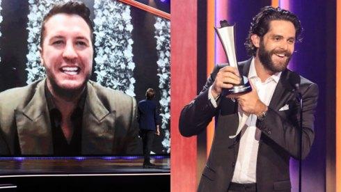 Luke Bryan and Thomas Rhett at ACM Awards 2021