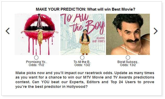 mtv movie and tv awards best movie predictions widget