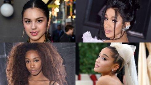 Olivia Rodrigo, Cardi B, SZA and Ariana Grande