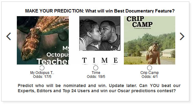 oscars best documentary feature predictions widget