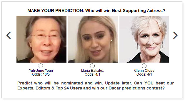 oscars best supporting actress predictions widget