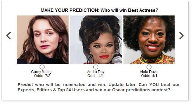 oscars best actress predictions widget