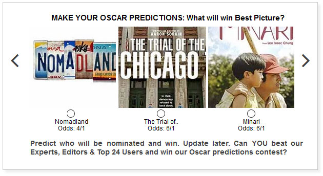 oscars best picture predictions widget