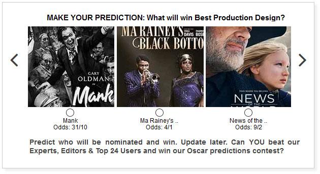 oscars best production design predictions widget