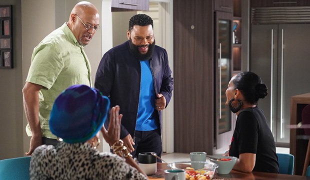 Laurence Fishburne and Anthony Anderson, Black-ish