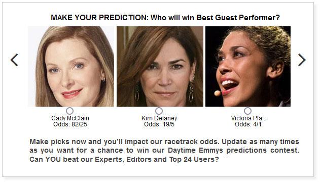 daytime emmys best guest performer predictions widget