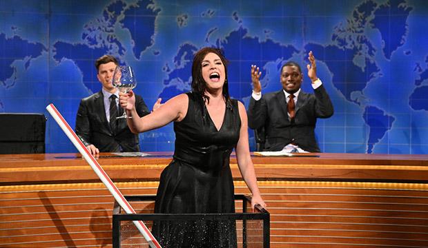 Colin Jost, Cecily Strong and Michael Che, Saturday Night Live