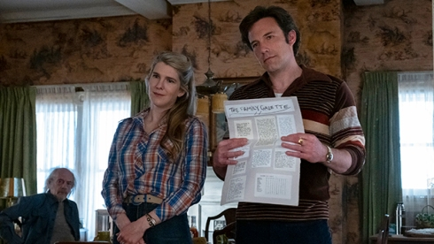 Christopher Lloyd, Lily Rabe and Ben Affleck, The Tender Bar